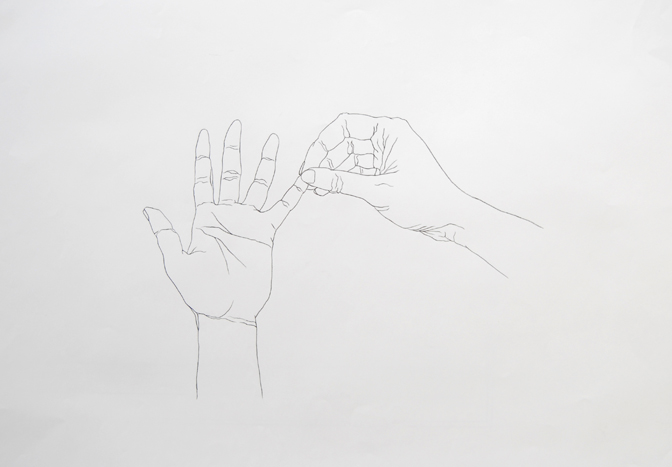 Hand pinch line drawing