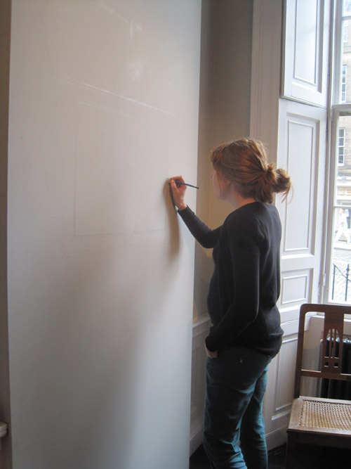 Paulina Sandberg wall drawing