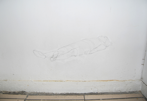 wall drawing body solitude